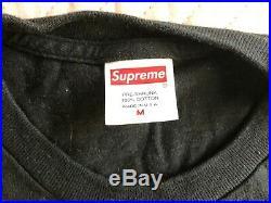100% AUTHENTIC Supreme Creeper Tee T-Shirt Black Medium box logo