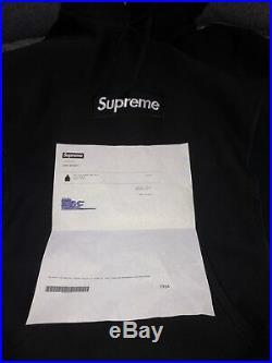 100% Authentic Supreme Black Box Logo Hoodie (M)