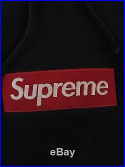 100% Authentic Supreme Box Logo Hoodie Navy Large L