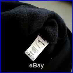 100% Authentic Supreme Small Box Logo Hoodie Black Size L Large Mens