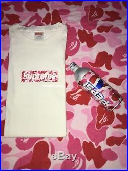 100% authentic SUPREME x BAPE Pink ABC Camo Box Logo T-shirt WHITE L Large Japan