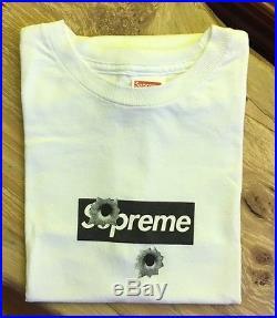 100% authentic Supreme Black/White Shibuya Box Logo Tee S cdg paris #6635