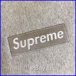 100% authentic Supreme Gray Box Logo Crewneck XL cdg hoodie pink #6635