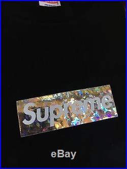 100% authentic Supreme Holographic/Holo Box Logo Tee M Nagoya Shibuya Paris #856