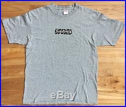 100% authentic Supreme LV Box Logo Tee Black/Grey L cdg #833