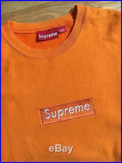 100% authentic Supreme Orange Box Logo Crew size XL pink #977
