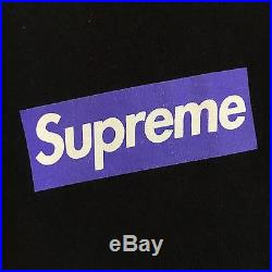100% authentic Supreme Purple/Black Box Logo Tee L bape kermit cdg #004