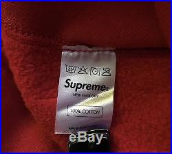 100% authentic Supreme Red Box Logo Hoodie XL cdg olive grey #PP
