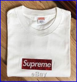 100% authentic Supreme White/Red Holo Box Logo Tee L holographic kermit #958