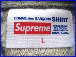 12 Supreme COMME des GARCONS Box Logo Hoodie Grey M L XL north face