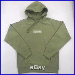 16FW Supreme Box Logo Size X-Large Olive Hoodie