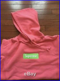 17FW Supreme Box Logo Hoodie Large