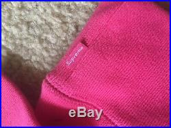 17FW Supreme Box Logo Size M PINK Hoodie