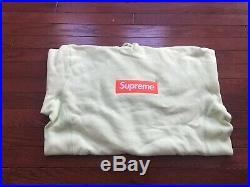 17FW Supreme Box Logo Size X-Large LIME Hoodie