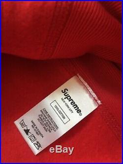 17FW Supreme Box Logo Size X-Large Red Hoodie