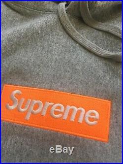 17Fw Supreme Box Logo Hoodie Size L