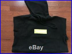 17 FW Supreme Box Logo Size X-Large Black Hoodie