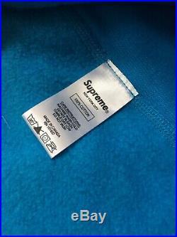 18FW Supreme Box Logo Crewneck Size Large Blue