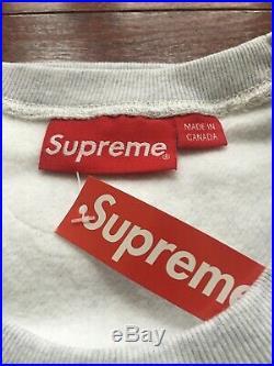 18FW Supreme Box Logo Crewneck Size Large Gray