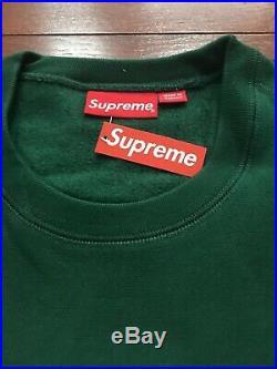 18FW Supreme Box Logo Crewneck Size Large Green