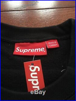 18FW Supreme Box Logo Crewneck Size X-Large Black
