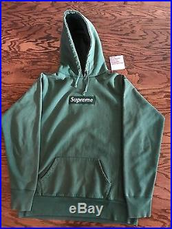1999 Supreme Forest Green Box Logo Hoodie Size L Used