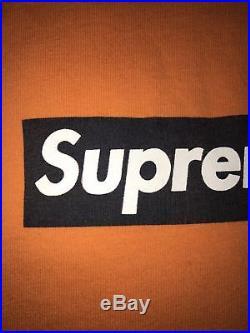 1999 Supreme Halloween Black Orange box logo T shirt Size Large Brooklyn Paris