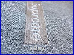 2000 Supreme Silver On Grey Box Logo