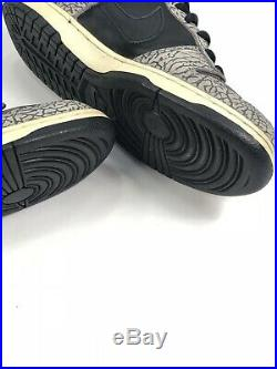 2002 Original Nike SB Black Supreme Dunk Low 9.5 10 Rare Box Logo Skate Futura