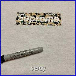 2002 Supreme Bape Yellow Psyche Star Camo #3 Box Logo Tee Shirt VTG Size XL