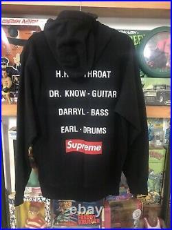 2008 Bad Brains x Supreme Black Hoodie Jacket L box logo T-shirt punk vintage