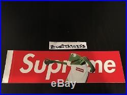 2008 Supreme Kermit the Frog Box Logo Sticker Red Blue Yellow Tee Hoodie T-Shirt
