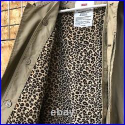 2011 Supreme Leopard Mac/Trench Jacket XL EXTRA LARGE bogo box logo trenchcoat