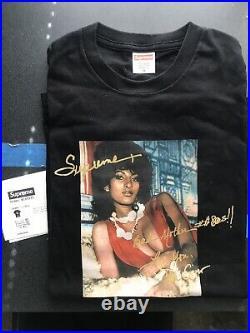 2012 Supreme Nyc Pam Grier Medium M Vintage Black Box Logo Cdg Kith ABC Nike