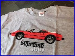 2013 Supreme NYC GT Tee Race Car T-Shirt Racing Grey Red Box Logo size XL