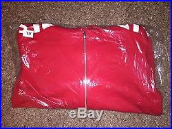 2015 F/w Supreme Cdg Box Logo S-xl Hooded Track Zip Up Sweat Pullover Hoodie Red