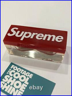 2015 Ss15 Supreme Box Logo Sand Timer Hourglass Timer Red White Clear
