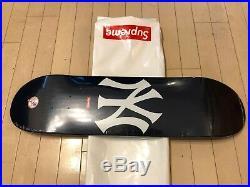 2015 Supreme NYC New York Yankees Navy Blue White Skateboard Deck Box Logo