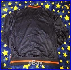 2015 Supreme S/s Box Logo Mesh Varsity Jacket Navy Size XL Extra Large Zip Up