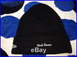 2016 F/w Supreme New Era Cdg Box Logo Beanie Hat Pcl Cap Big Block Arc Black