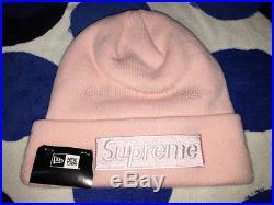 2016 Fw Supreme New Era Cdg Box Logo Beanie Hat Pcl Cap Big Block Arc Pink Peach