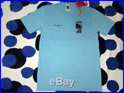 2016 S/s Supreme The North Face S-xl Cdg Box Logo Steep Tech Tee Pcl Shirt Blue