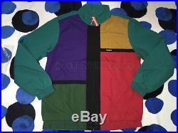2016 Ss Supreme Cdg Box Logo Color Blocked Track Jacket Motion Dark Teal L Large
