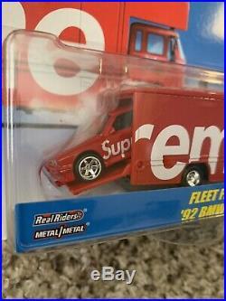 2019 Supreme Hot Wheels Fleet Flyer + 1992 BMW M3 Red Box Logo Car Limited