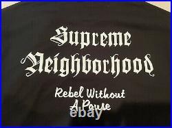 AUTHENTIC DS SUPREME x NEIGHBORHOOD NBHD SKULL BOX LOGO TEE BLACK XL XLARGE