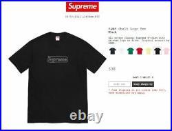 AUTHENTIC & IN HAND Supreme Kaws Chalk Logo tee Black Size Medium CLEARANCE