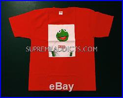 AUTHENTIC SUPREME KERMIT DS RED TEE SHIRT XLARGE XL RAEKWON CDG BOX LOGO PCL NEW