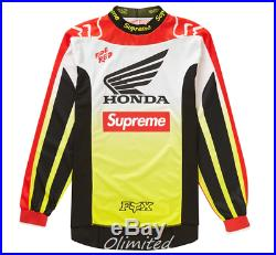 AUTHENTIC Supreme FW19 Fox Racing Jersey Honda Moto Box Logo RED SIZE SMALL