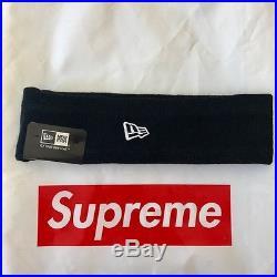 AUTHENTIC Supreme FW Era New York Box Logo Fleece Lined BLACK Headband
