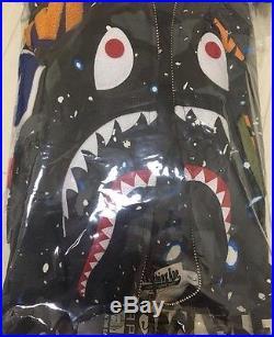 A Bathing Ape Bape Space Camo Shark Hoodie Size XXL 2XL supreme Box Logo DSWT